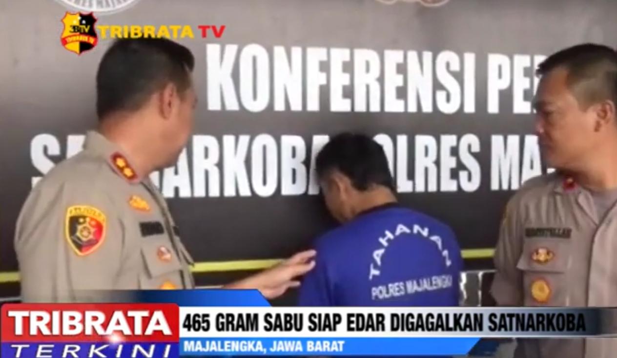 POLISI GAGALKAN 465 GRAM SABU SIAP EDAR