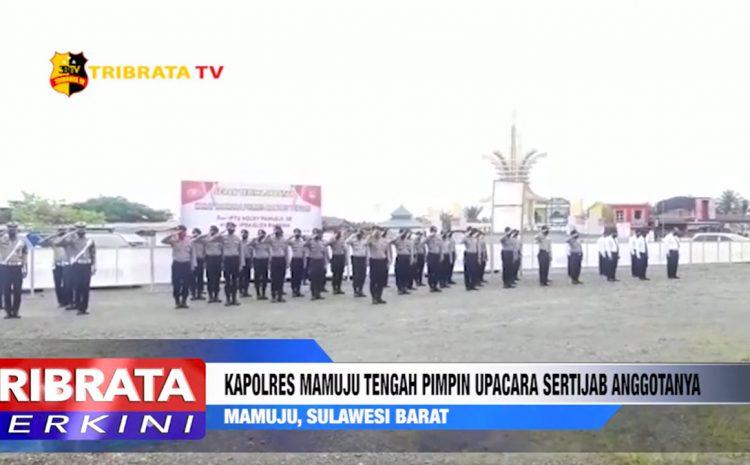 KAPOLRES MAMUJU TENGAH PIMPIN UPACARA SERTIJAB ANGGOTANYA